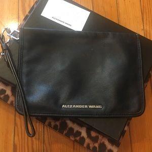 Alexander Wang - Black Leather Clutch/Wristlet